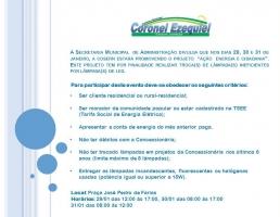 SECRETARIA DE ADMINISTRAÇÃO DE CORONEL EZEQUIEL INFORMA