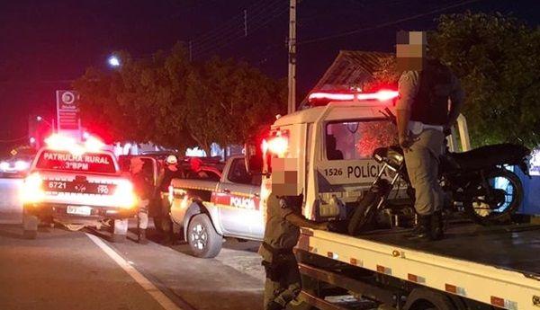 Polícia Militar realiza blitz em Santa Terezinha-PB