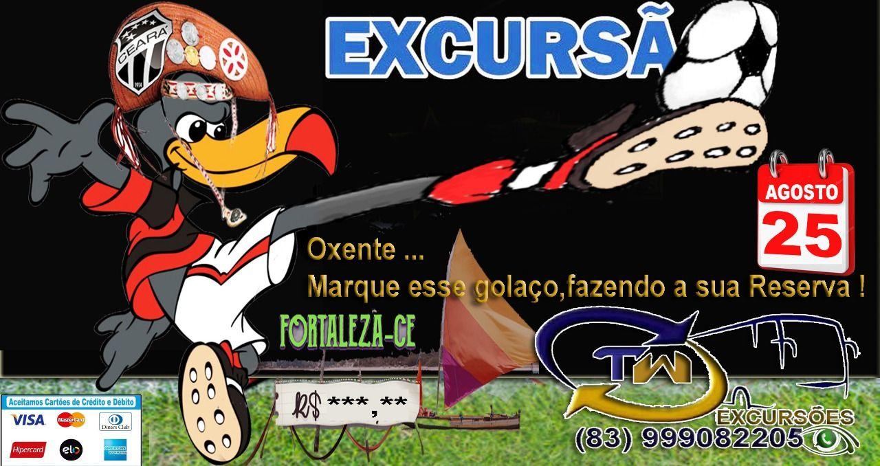 Patoenses vão à Fortaleza-CE, para assistir a partida entre Ceará x Flamengo, no próximo domingo, (25)