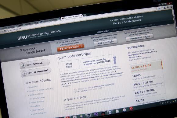 Sisu abre hoje inscrições para 235 mil vagas em universidades públicas