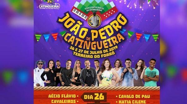 João Pedro em Catingueira terá dois dias de festa