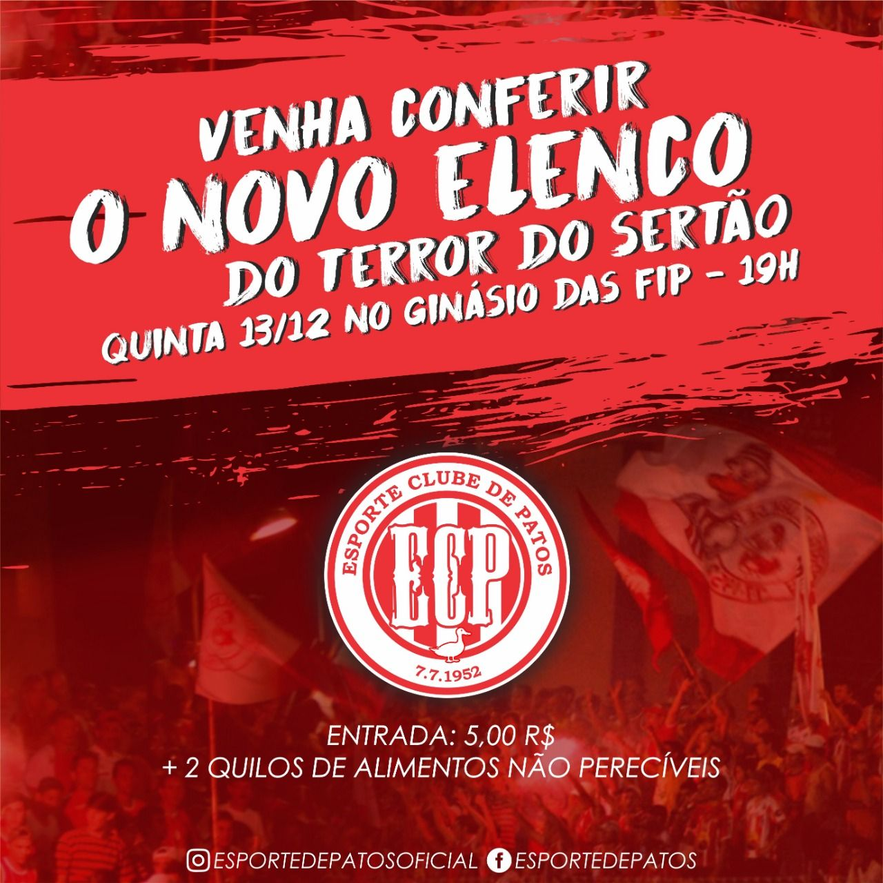Esporte de Patos apresenta seu elenco à torcida nesta quinta-feira (13)
