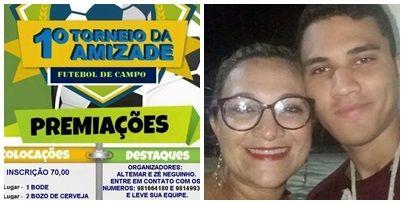 Participem: 1ºTorneio de Futebol Beneficente em prol do jovem Yan Felipe, neste domingo(15)