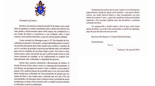 UMA POR DIA... A carta do Papa