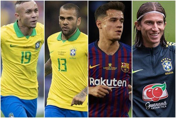 Everton, Daniel Alves, Coutinho, Filipe Luís... Jogadores da Seleção movimentam mercado