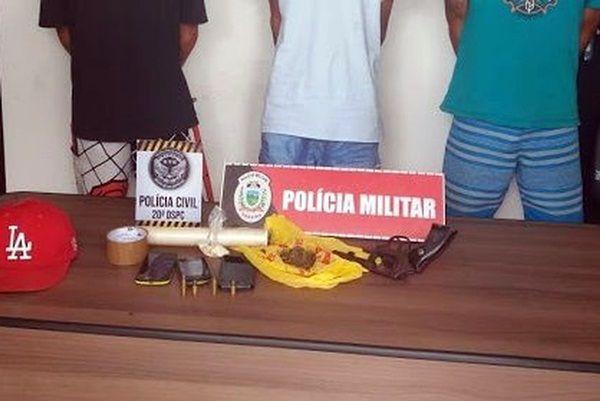 Homem é preso e drogas e arma são apreendidas no Sertão