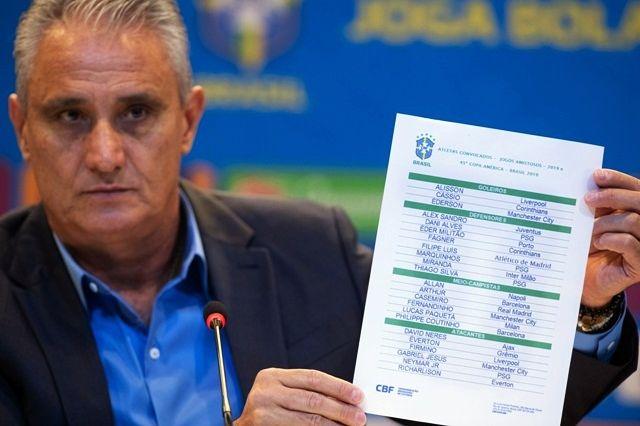 Tite divulga convocação do Brasil para Copa América