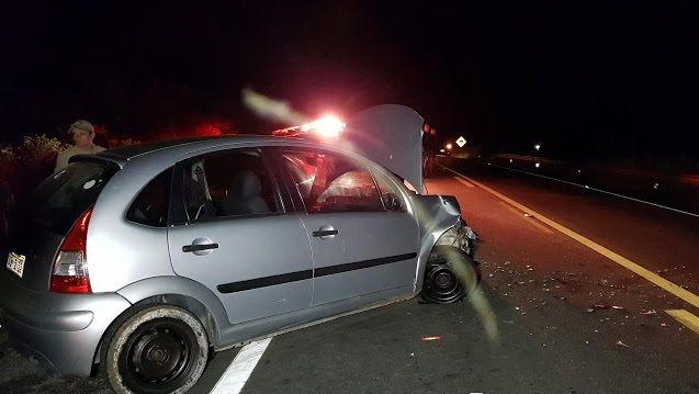 Acidente automobilístico registrado na noite deste sábado 23/03 na BR 230 próximo a Patos