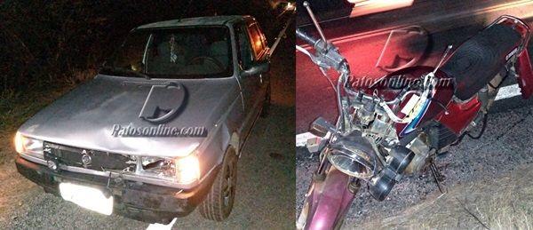Santerezinhense  se envolve em acidente com  animal na BR-361, entre Patos e Santa Terezinha