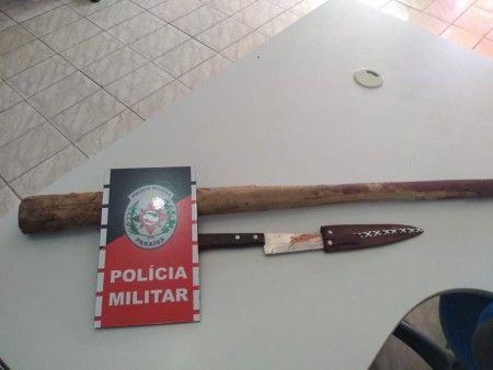 Discussão acaba com um ferido a faca e outro preso no Vale do Piancó