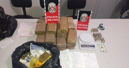 Polícia apreende 18kg de maconha com homem que já usava tornozeleira eletrônica