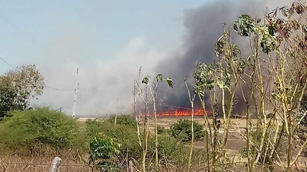 Incêndio na zona Rural na cidade de Santa Helena assusta moradores