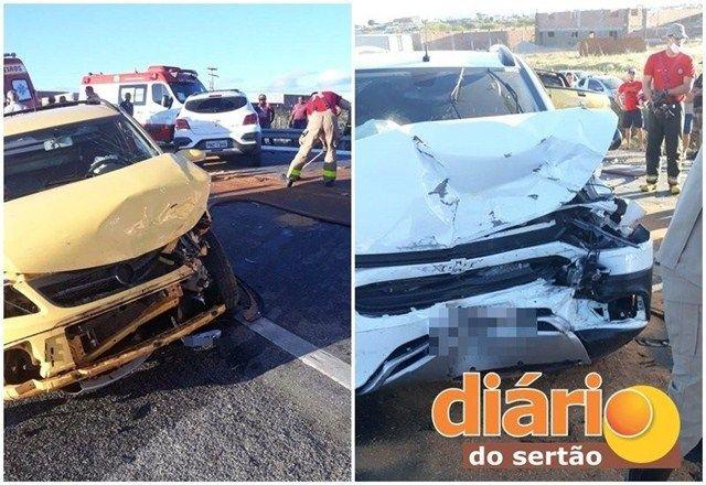 FOI POR POUCO: Quatro pessoas ficam feridas em acidente na BR 230 no Sertão da Paraíba