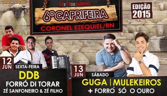 Prefeitura de CORONEL EZEQUIEL realiza nos dias 12 e 13 de Junho a VI Caprifeira