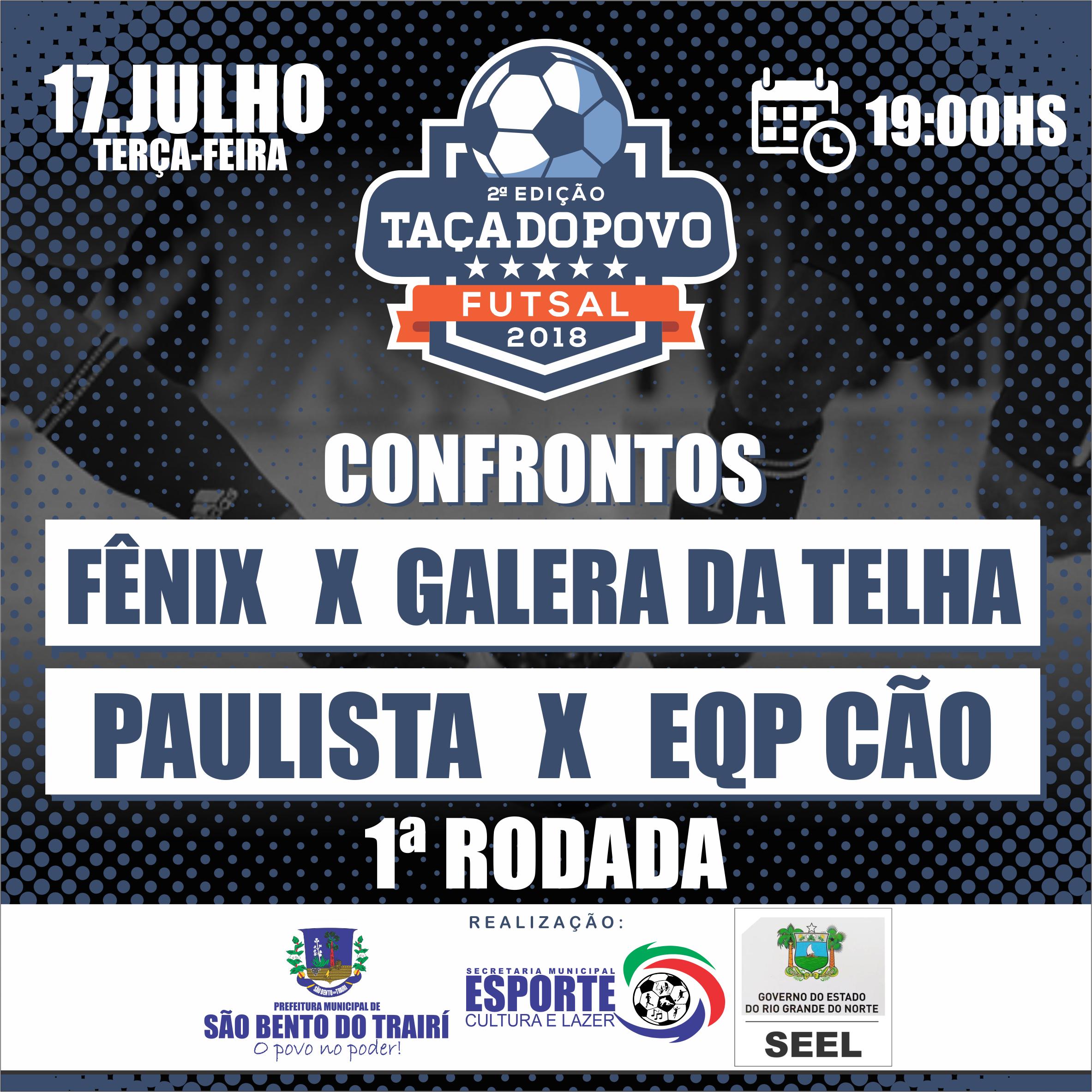 58a017cb8e Começa nesta terça-feira (17) a II Edição da Taça do Povo de Futsal ...