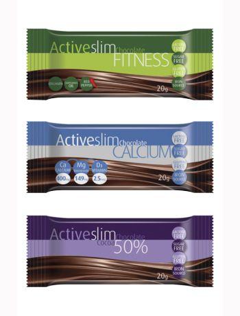 Barras de chocolate Active Slim
