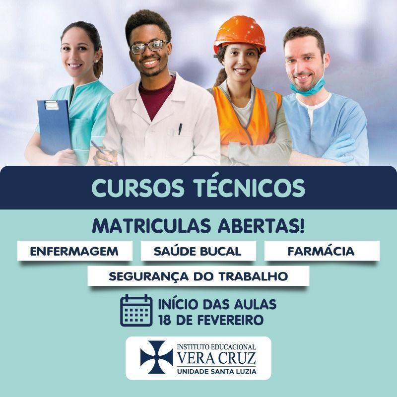 O Instituto Educacional Vera Cruz Chega em Santa Luzia com Cursos Técnico